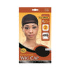 M&M QFITT Stocking Wig Cap X-LARGE #126 BLACK