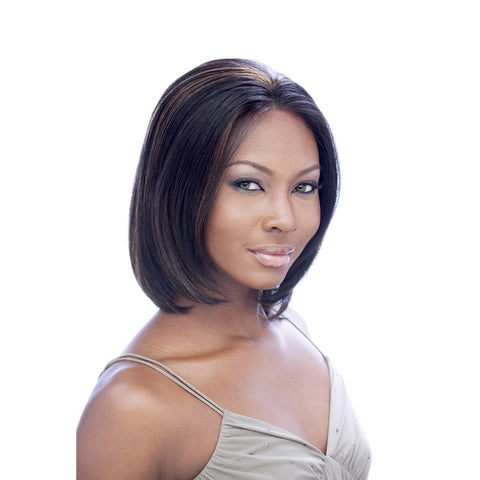 [Its A Wig] Human Hair Lace Front Wig Topaz - Wigs