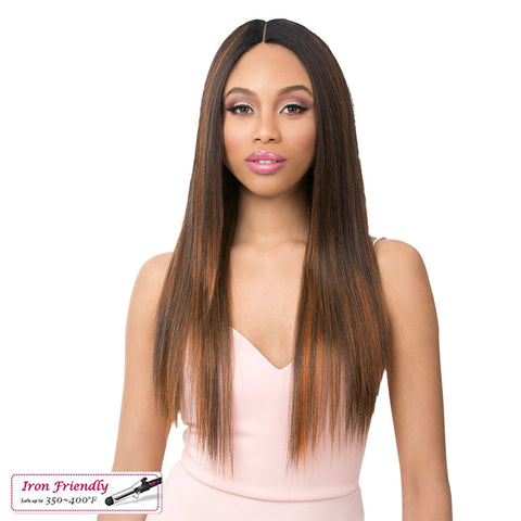 "[IT'S A WIG] FULL CAP WIG  6"" Deep Lace Part LOLA"