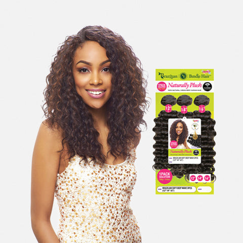 [JANET] 100% Natural Virgin Human Hair Brazilian Bundle Deep 3pcs