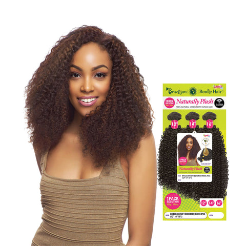 JANET 100% Natural Virgin Human Hair Brazilian Bundle Bohemian 3pcs