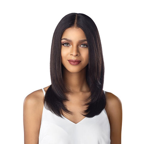 SENSATIONNEL UNPROCESSED VIRGIN HUMAN HAIR 10A LACE FRONT WIG STRAIGHT