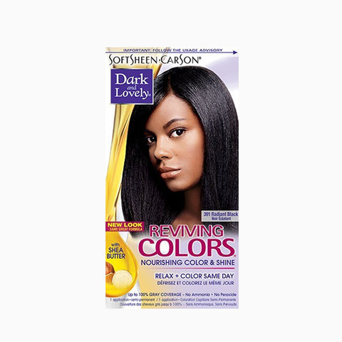 [Dark And Lovely] Reviving Colors Hair Color - 391 Radiant Black - C_Hair Care-Hair Color