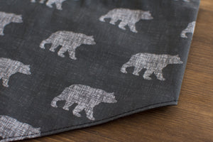 Grey Bear Dog Bandana