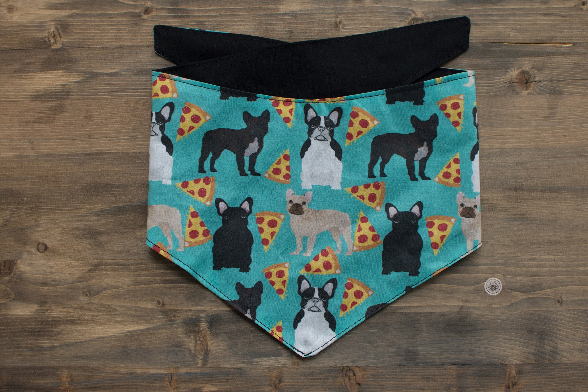 French Bulldog + Pizza Dog Bandana
