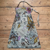 Batik Halter Neck Dress, Fish and Flowers