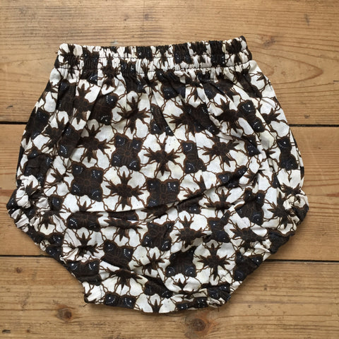 Batik Nappy Cover, Black Star
