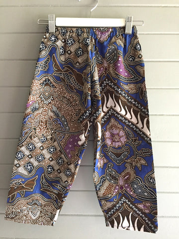 Batik Pants, Blue Butterfly