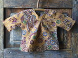Batik V-Neck Blouse, Amber Forest