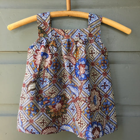 Batik Smock Top, Indigo Dream