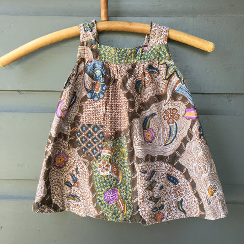Batik Smock Top, Star Ferns