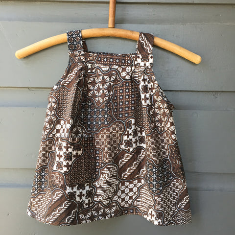Batik Smock Top, Umber Pathways