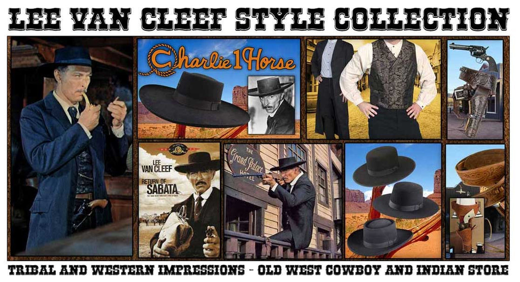 Lee Van Cleef Spaghetti Western Collection from Tribal And western Impressions - Old West Cowboy And Indian Store - www.OldWestOutfitStore.com