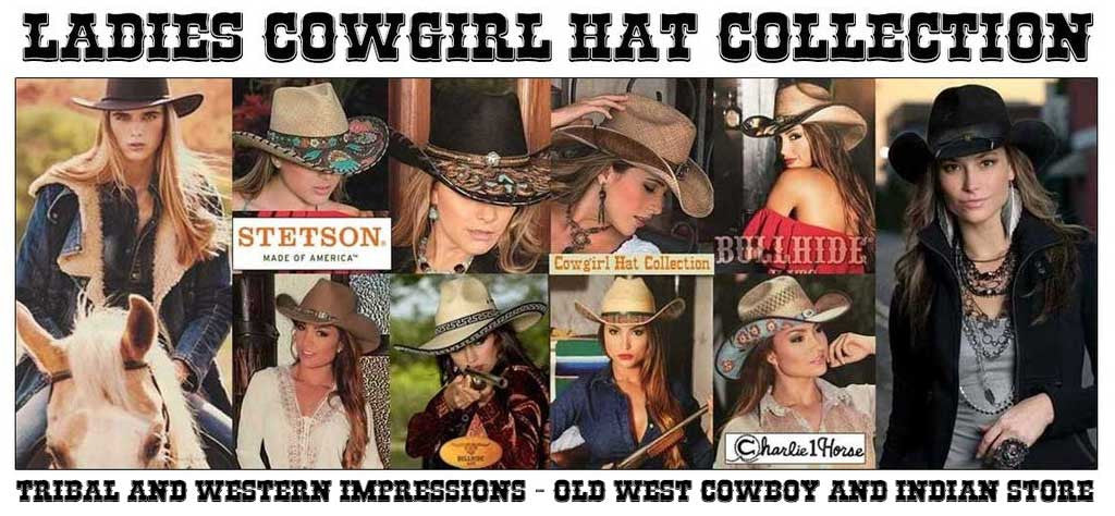 Cowgirl Hat Collections From Tribal And Western Impressions - www.OldWestOutfitStore.com
