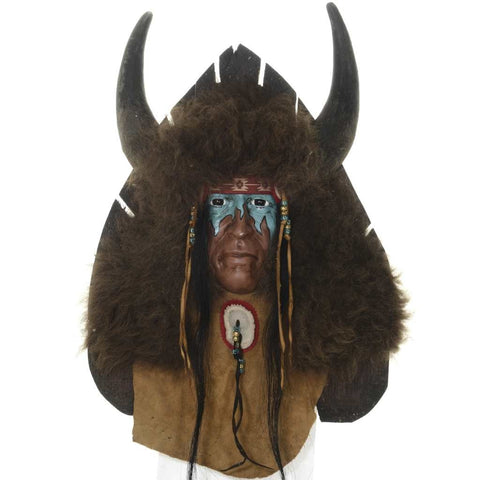 Bison Hunter Spirit Mask Wall Display By Black Wolf Limited Edition