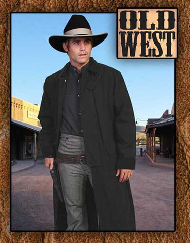 Lee Van Cleef Style Classic Scully Western Canvas Black