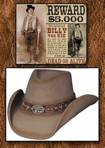 Billy The Kid Legendary Limited Edition Bullhide Monecarlo Cowboy Hat-Sand