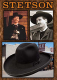 Authentic Old West Stetson 4X Sheridan Doc Holiday Style Hat