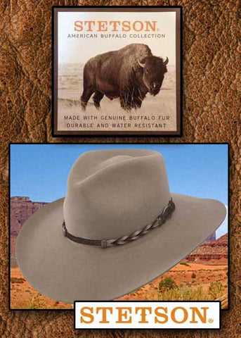 A Best Seller! Stetson Drifter 4X Buffalo Fur  Hat
