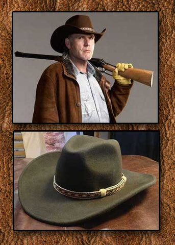 A Best Seller! Sheriff Longmire Style Crushable Wool Cowboy Hat With Hand Woven Horsehair Slip - Knot Hat Band