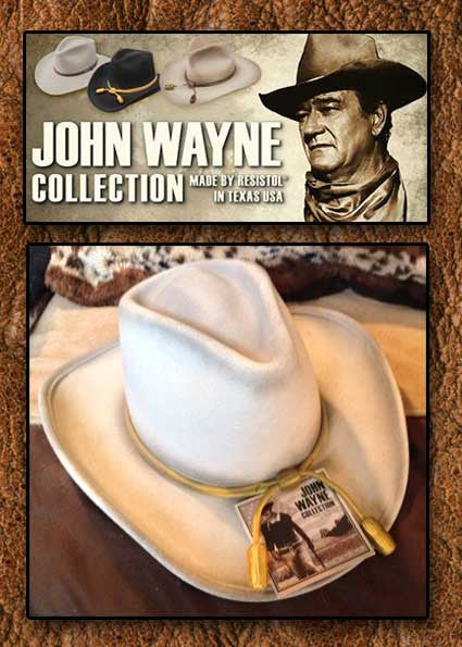 The Fort Crushable Wool - John Wayne - Resistol Cowboy Hat- Silverbelly