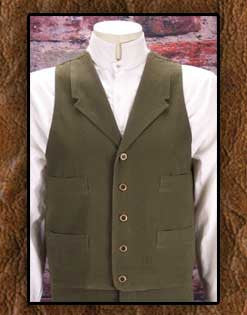 Frontier Classics Frontier Five Button Notched Label Vest -Six Colors