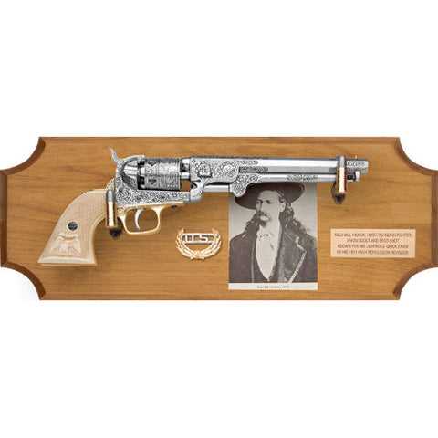 Museum Quality Wild Bill Hickok Deluxe Frame Set Dark Or Light Wood