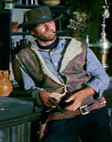 A Best Seller! Clint Eastwood Spaghetti Western Faux Piled Lined Vest Reproduction