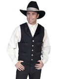 Wyatt Earp Old West  Embossed Tie -  Vest Combo Set