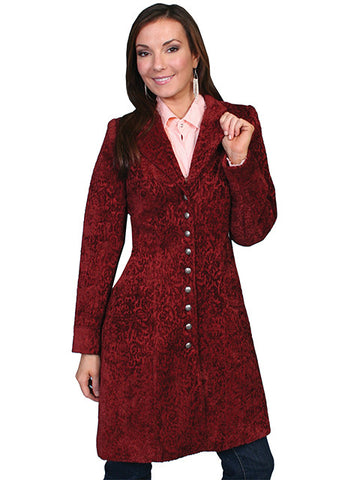 Wahmaker Chenille Old West Frock Coat - Wine-740099-WIN