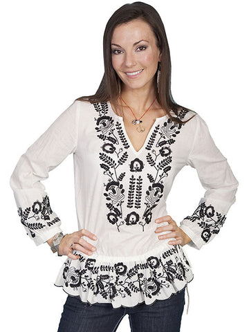 Embroidered Tunic-Natural -HC127-NAT