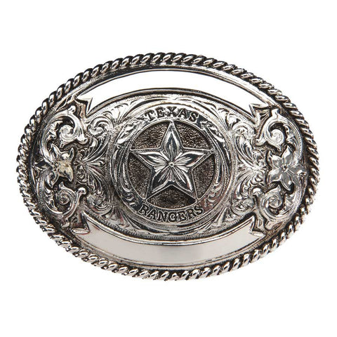 And West Texas Rangers Antique Silver Plated Buckle