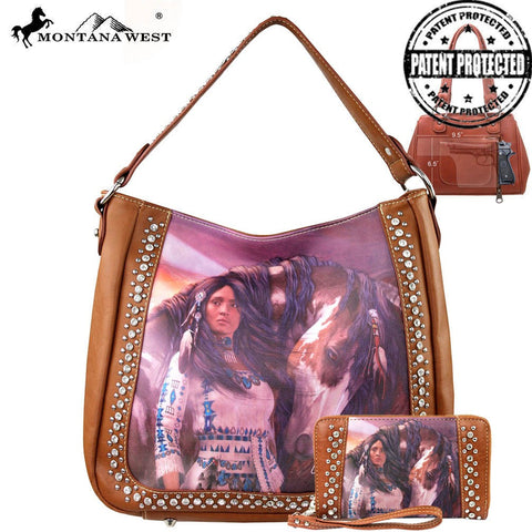 Montana West Horse Art Concealed Handgun Handbag-Laurie Prindle Collection-Set