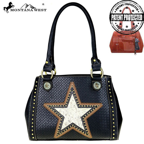 Long Star Concealed Carry Satchel Handbag