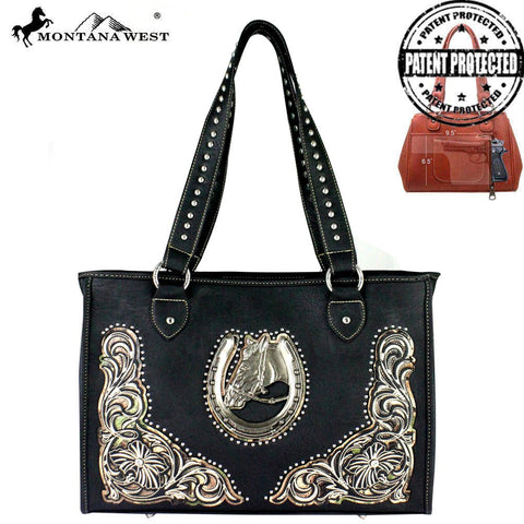 Montana West Dual Sided Concealed Carry Tote Bag