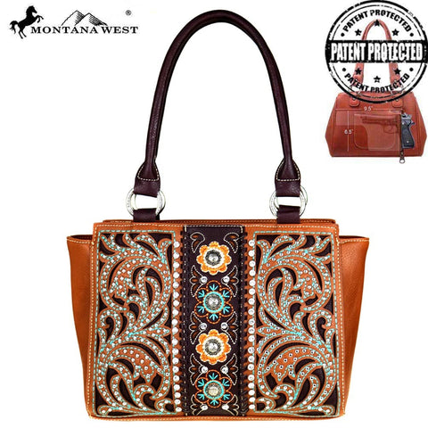 Montana West Trapezoid Tote Concealed Carry Handbag