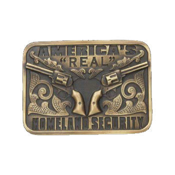 "Antique Brass ""America's Real Homeland Security"" -And West Brand"