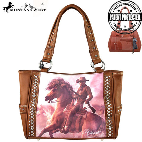Montana West Horse Art Concealed Handgun Handbag-Laurie Prindle Collection