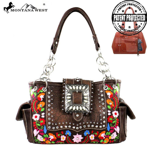 Montana West Buckle Collection Concealed Handgun Satchel