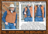 Canvas Vest Cowboy Concealed Carry