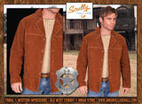 Scully Western Suede Gunsmoke James Arness Style Four Button Coat
