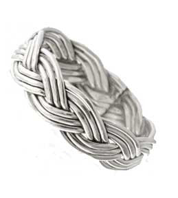Navajo Hand Braided Sterling Silver Ring