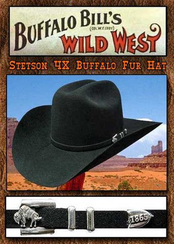 Buffalo Bill Show Stopper - Stetson Apache 4X Buffalo Fur Hat