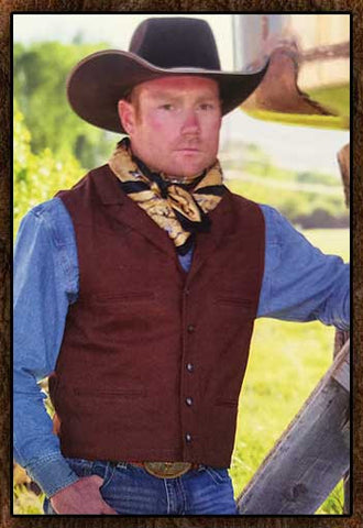 Best Seller!  Wyoming Traders Rugged And Inexpensive Notched Lapel Cowboy Western Canvas Vests