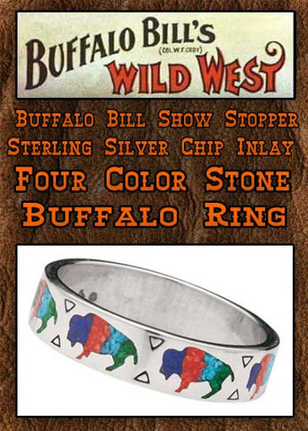 Buffalo Bill Show Stopper  Sterling Silver Legends Buffalo Ring