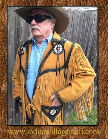 Buffalo Bill Southwestern Smoked Edge Indian Fringed Show Coat -Buf01