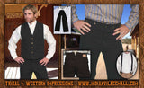 Wyatt Earp Old West Black Pants