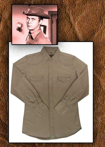 Steve McQueen Style Wanted Dead Or Alive Canvas Shirt