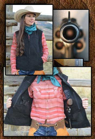 Calamity!  Concealed Carry Canvas Zipper Vest