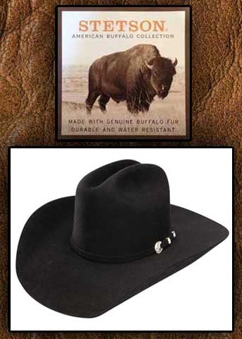 Corral 4X Legendary Stetson Buffalo Fur Hat - Black